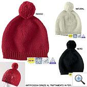 Descrizione  Questo caldo berretto con pompon in misto lana è  idrorepellente. Grazie al trattamento Teflon® le gocce d acqua scivolano  sulla superficie 4c9701d0f39b